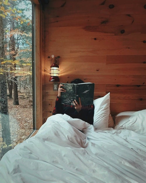 Relaxing, stress-free morning. Read a book